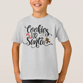 Cookies for Santa Whimsical Typography | Shirt