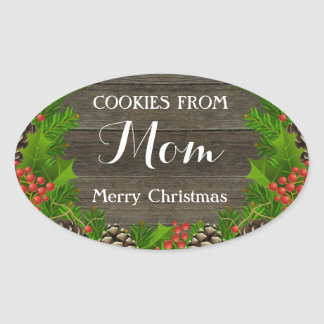 Cookies from Mom Festive Sticker