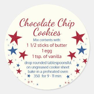 Cookies in a Jar Topper Round Sticker