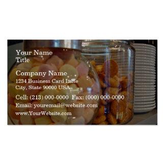 Cookies in jars business card template