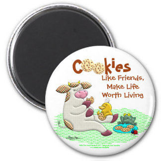 Cookies Make Life Worth Living 2 Inch Round Magnet
