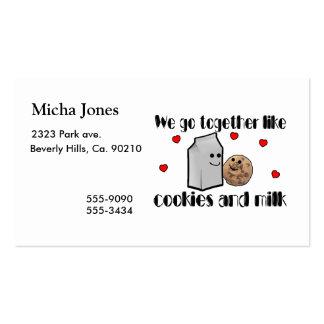 Cookies & Milk Love Business Card