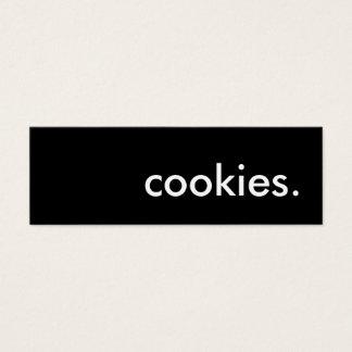 cookies. mini business card
