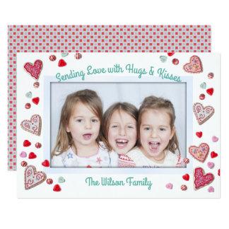 Cookies n Candy Hugs n Kisses Valentines Day Card