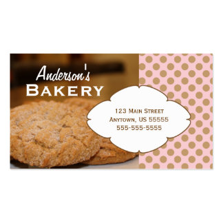 Cookies Photo Bakery Business Card