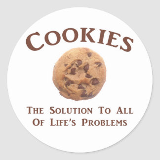 Cookies solve Problems Classic Round Sticker