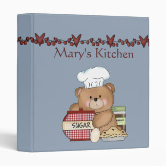 Cooking Bear Recipe Binder / 1 Inch