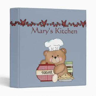 Cooking Bear Recipe Binder / 1 Inch