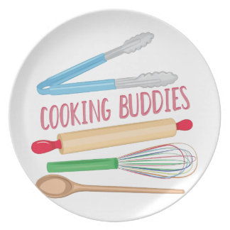 Cooking Buddies Party Plates