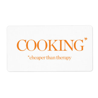 Cooking Cheaper Than Therapy Shipping Label