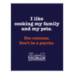 Cooking Family and Pets Poster