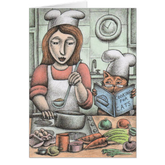 'Cooking for Cats' Card