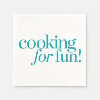 Cooking For Fun Paper Napkins
