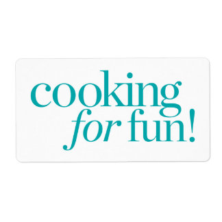 Cooking For Fun Shipping Label