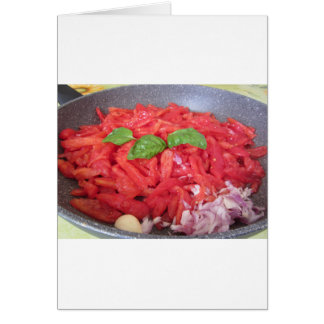 Cooking homemade tomato sauce card