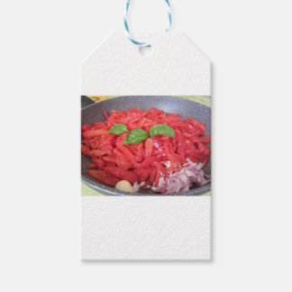 Cooking homemade tomato sauce gift tags
