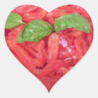 Cooking homemade tomato sauce heart sticker