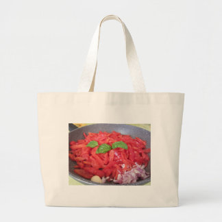 Cooking homemade tomato sauce large tote bag