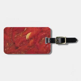 Cooking homemade tomato sauce luggage tag