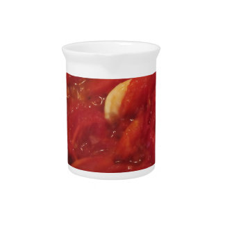 Cooking homemade tomato sauce pitcher