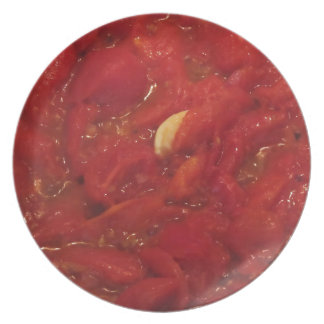 Cooking homemade tomato sauce plate