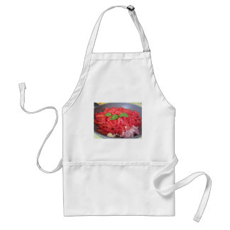 Cooking homemade tomato sauce standard apron