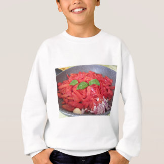 Cooking homemade tomato sauce sweatshirt