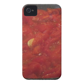 Cooking homemade tomato sauce using fresh tomatoes iPhone 4 Case-Mate case