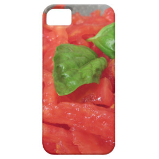 Cooking homemade tomato sauce using fresh tomatoes iPhone 5 case