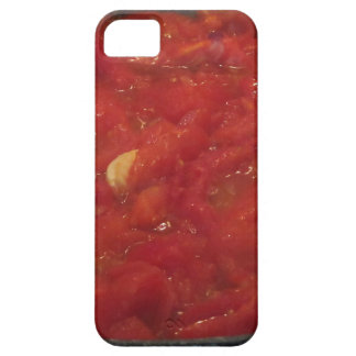 Cooking homemade tomato sauce using fresh tomatoes iPhone 5 cover
