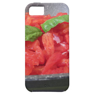 Cooking homemade tomato sauce using tomatoes case for the iPhone 5