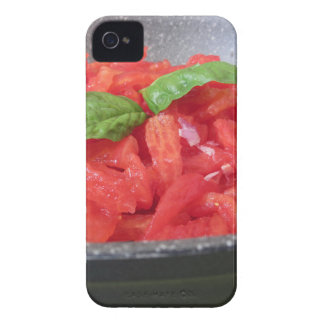 Cooking homemade tomato sauce using tomatoes Case-Mate iPhone 4 case