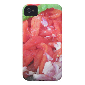 Cooking homemade tomato sauce using tomatoes iPhone 4 Case-Mate case