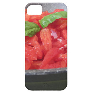 Cooking homemade tomato sauce using tomatoes iPhone 5 cases