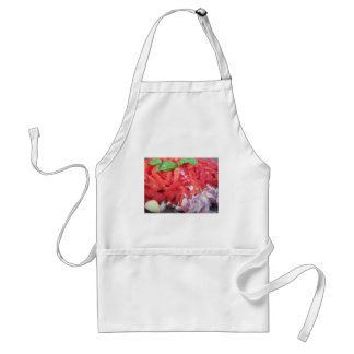 Cooking homemade tomato sauce using tomatoes standard apron