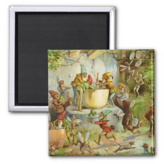 Cooking In The Gnome Kitchen Square Magnet