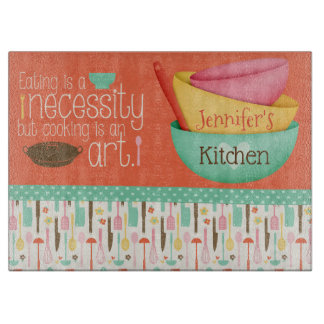 Cooking Is An Art Personalized Cutting Board