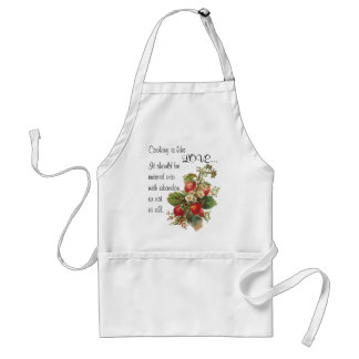 """""""Cooking is like love...."""" apron"""