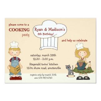 Cooking Kids Invitation
