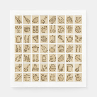 Cooking Lovers Paper Napkin