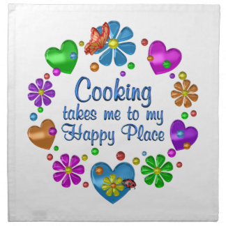 Cooking My Happy Place Napkin