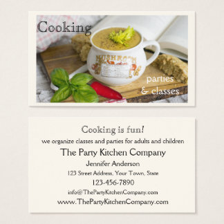 Cooking Parties and Classes Business Card