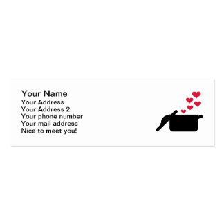 Cooking pot red hearts business card template