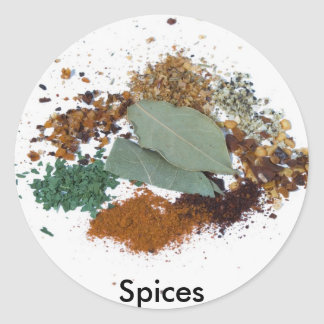 Cooking Spices Classic Round Sticker