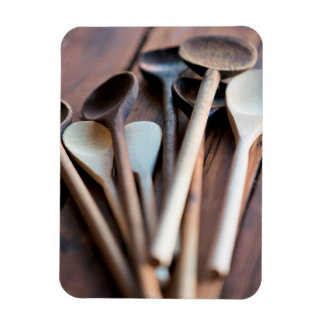 Cooking spoons rectangular photo magnet