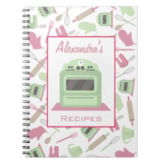 Cooking Themed Pattern Recipe Notebook