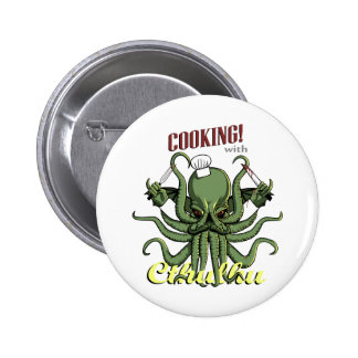 Cooking with Cthulhu 2 Inch Round Button