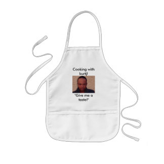 "Cooking with kurtj!, ""Give me a taste!"" Kids Apron"