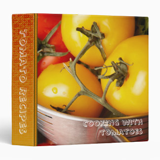 "Cooking with tomato recipes 1.5"" avery binder"
