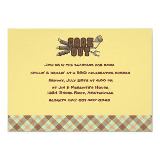 Cookout Argyle Invitation